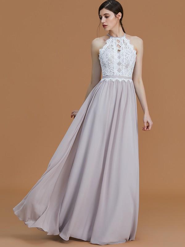 Lace and Chiffon Bridesmaid Dresses