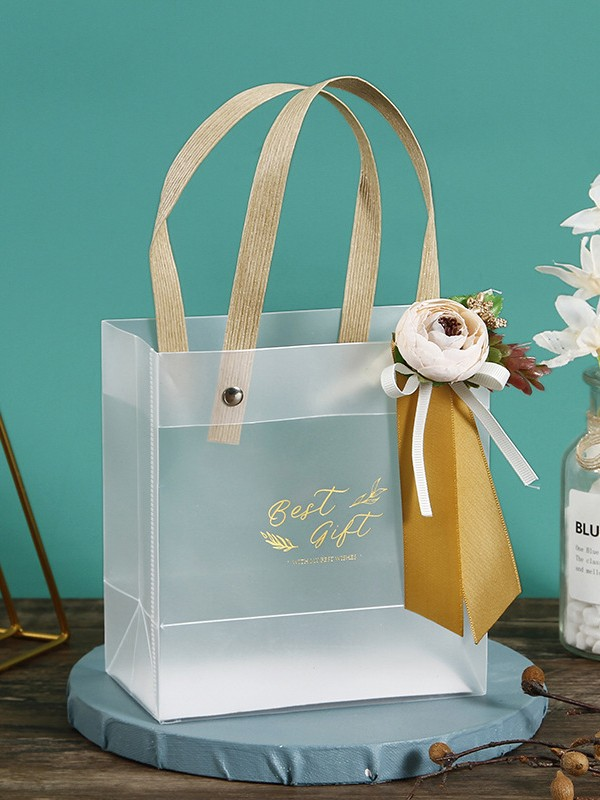 Fascinating PVC With Flower Gift Bags