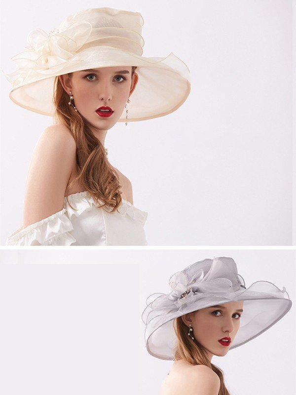Ladies' Lovely Silk Flower Kentucky Derby Hats/Tea Party Hats