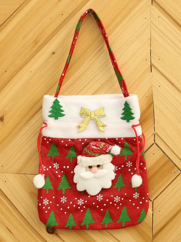 Christmas Brilliant Cloth With Santa Claus Bags