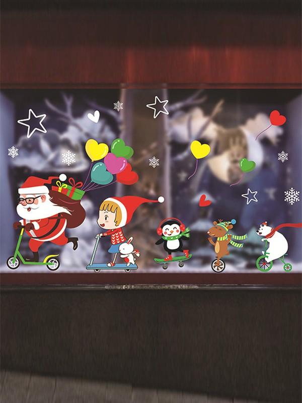 Christmas Gorgeous PVC Static Stickers
