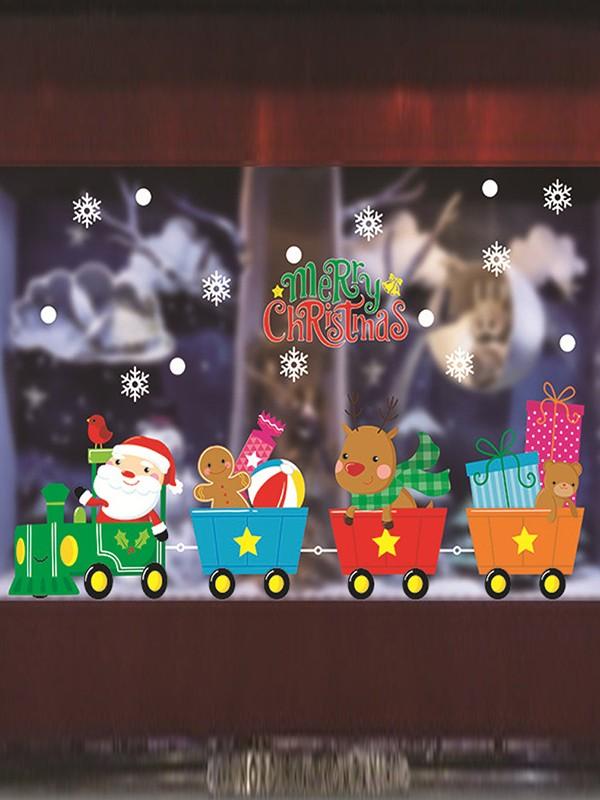 Christmas Amazing PVC Static Stickers