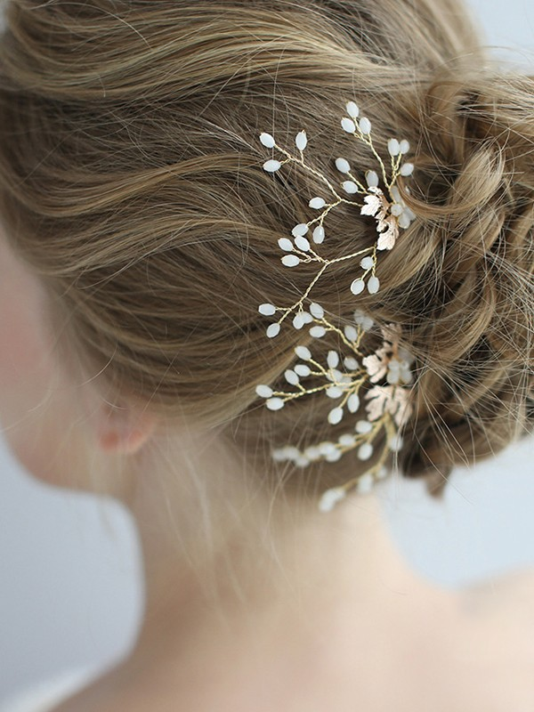 Elegant Alloy With Crystal Headpieces