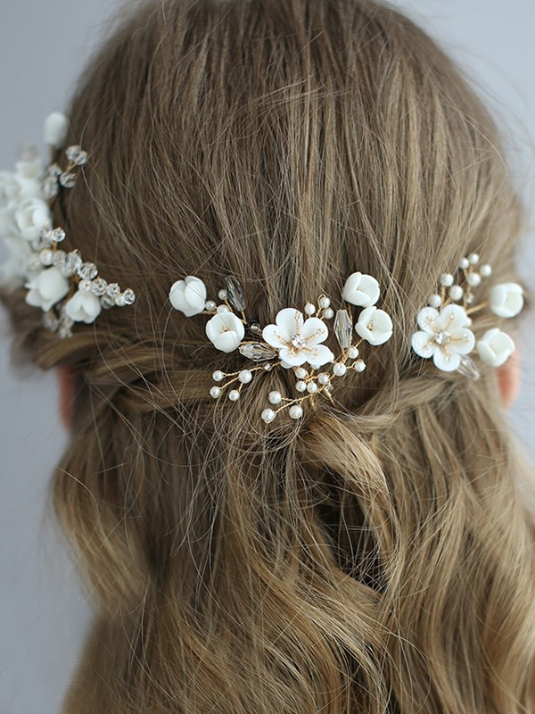 Exquisite Alloy With Flower Headpieces
