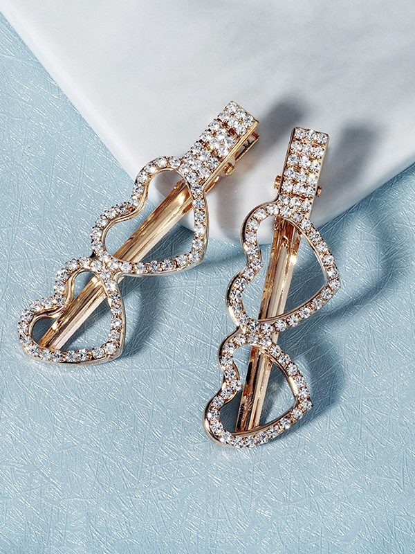 Amazing Alloy With Rhinestone Hairpins(2 Pieces)