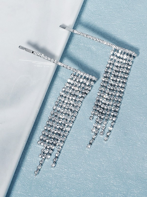 Charming Alloy With Rhinestone Hairpins(2 Pieces)