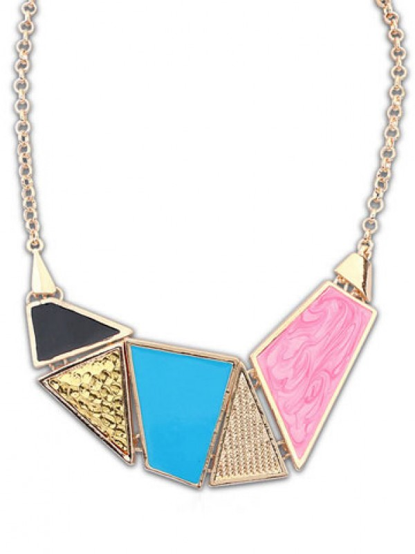 Occident Stylish Street shooting Hot Sale Drop of oil Necklace