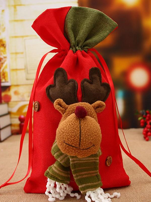 Cute Cloth With Wapiti Christmas Decoration
