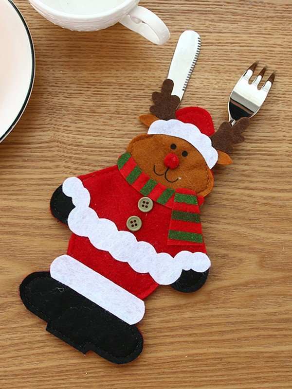 Christmas Lovely Wapiti Cutlery Cover
