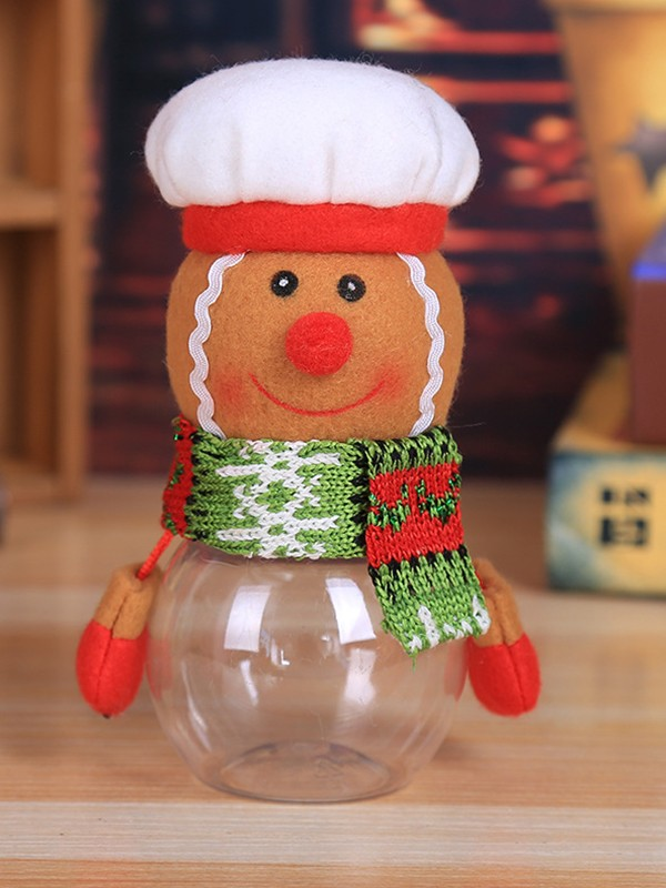 Christmas Hot Sale Chef PVC Candy Can(4 Pieces)