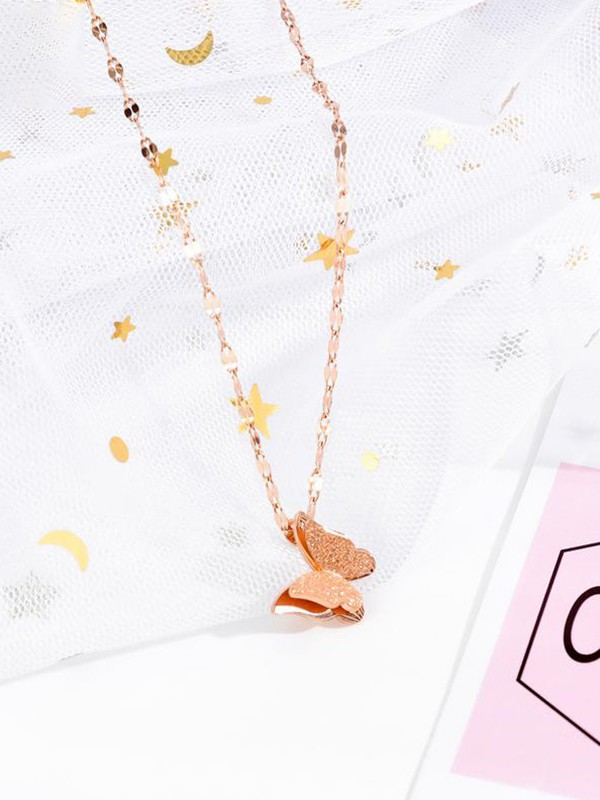 Graceful Titanium Hot Sale With Butterfly Necklaces