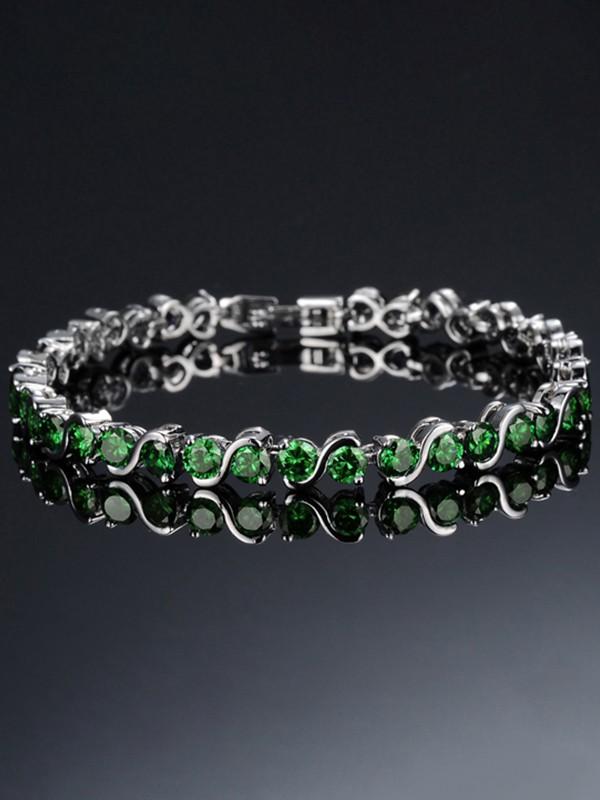 Ladies' fine Rhinestone Copper Bracelets