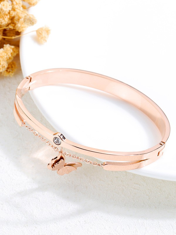 Beautiful Titanium With Butterfly Bracelets