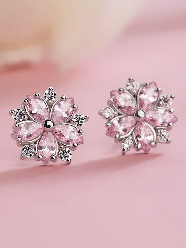Graceful S925 Silver With Snowflake Hot Sale Earrings