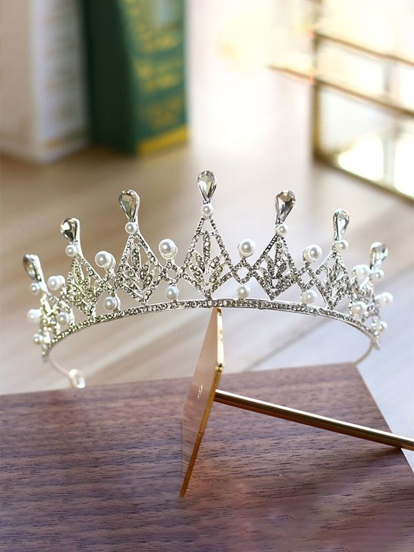 Charming Alloy With Pearl/Rhinestone Headpieces For Ladies