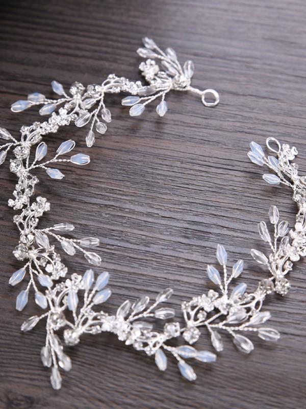 Trendy Leaf Crystal Headpieces