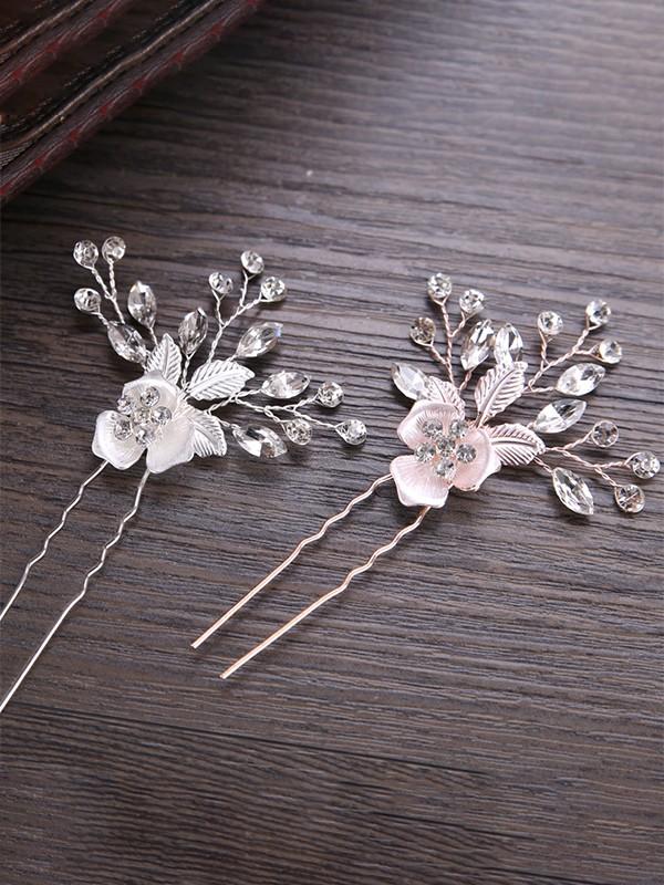 Very Elegant Flowers Alloy Headpieces