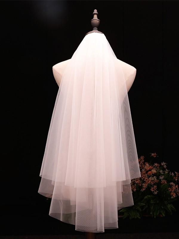 Unique 2 Layer Tulle Wedding Veils