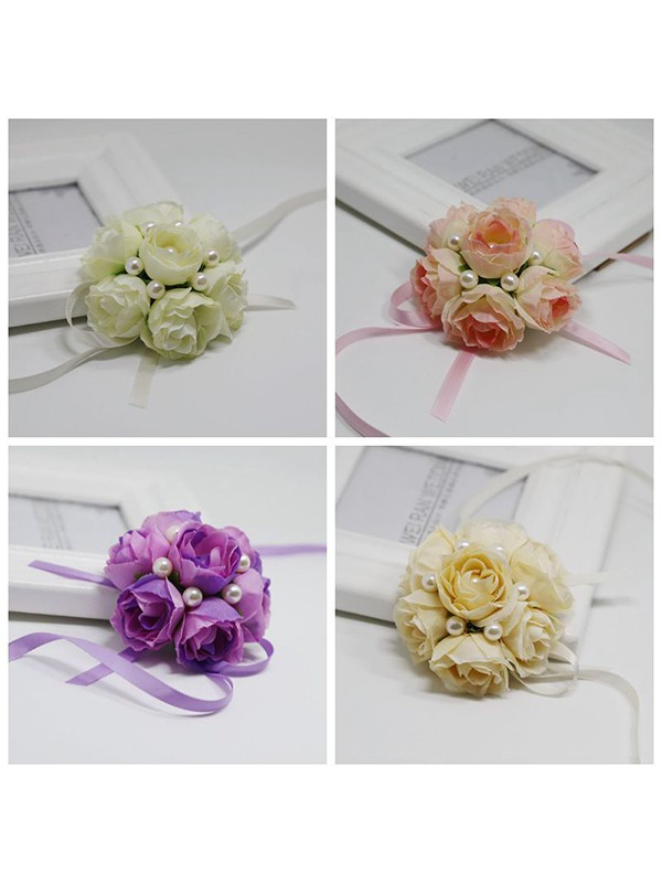 Fancy Cloth Wrist Corsage