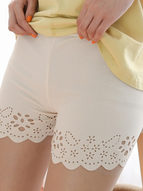 Hot Sale Women's Polyester Fiber Hollow Out Safety Pants/Safety Shorts