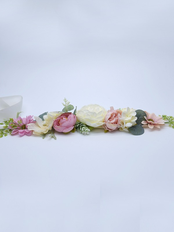 Nice Satin Sashes With Flowers