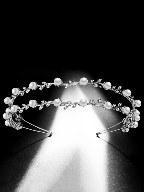 Gorgeous With Pearl Alloy Bridal Headpieces