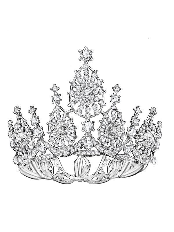 Graceful Bridal With Rhinestone Alloy Headpieces