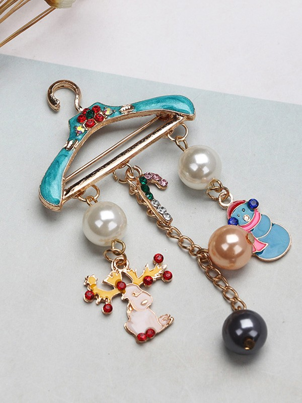 Christmas Gorgeous Alloy With Snowman/Wapiti Brooches