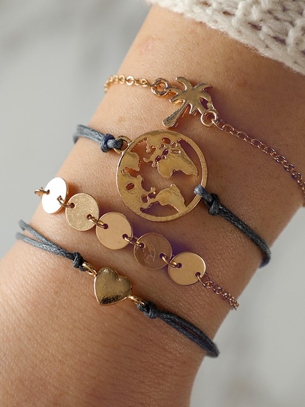 Gorgeous Alloy With Tree Bracelets/Anklets(4 Pieces)