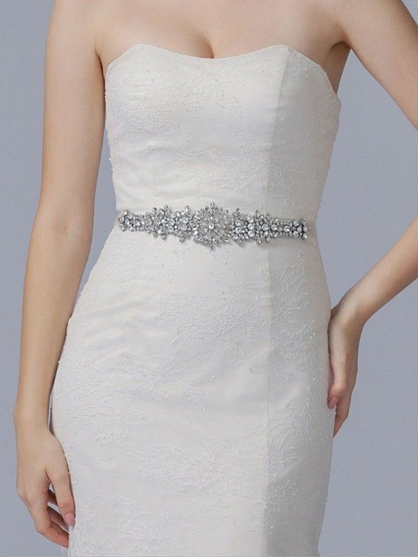 Charming Cloth Sashes With Rhinestones