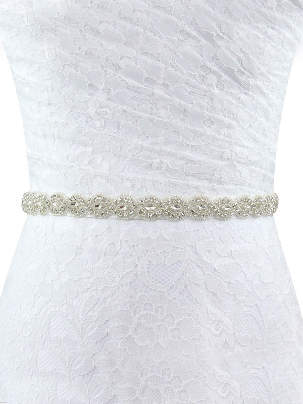 Exquisite Polyester Fiber Sashes With Rhinestones