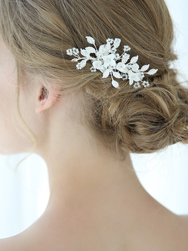 Unique Alloy With Flower Hairpins Headpieces