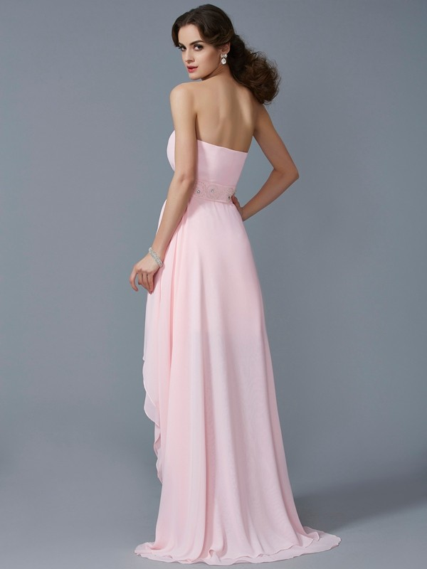e1dd88ced0b A-Line Princess Sweetheart Sleeveless Beading High Low Chiffon Homecoming  Dresses - Hebeos Online