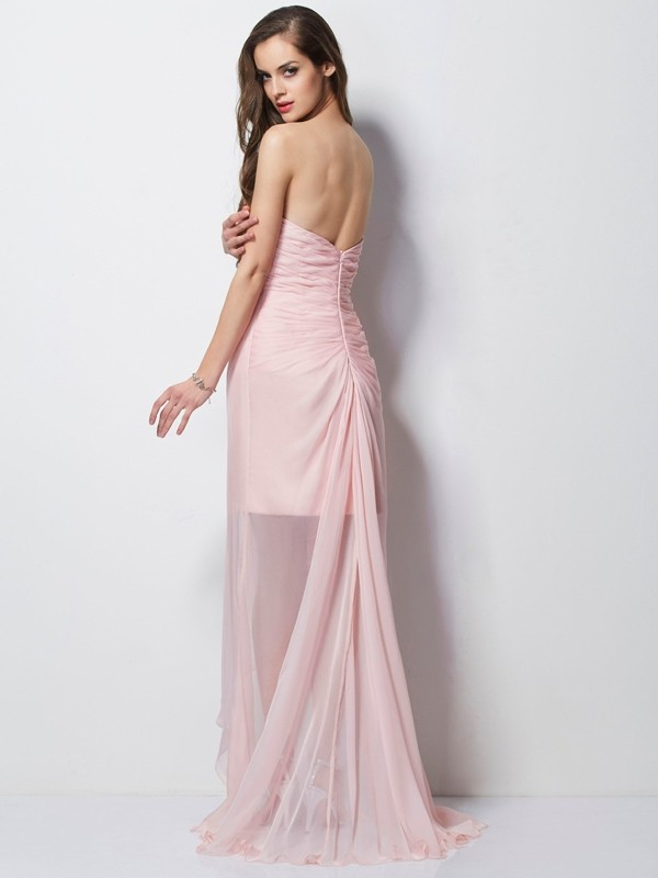 2f02288980fab A-Line Princess Sweetheart Sleeveless Beading Applique High Low Chiffon  Dresses - Hebeos Online