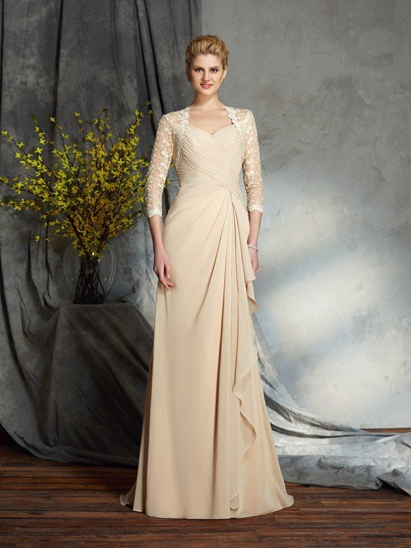99d83742e4 Image Result For Sheath Column Scoop Neck Knee Length Chiffon Lace Mother  Of The Bride Dress