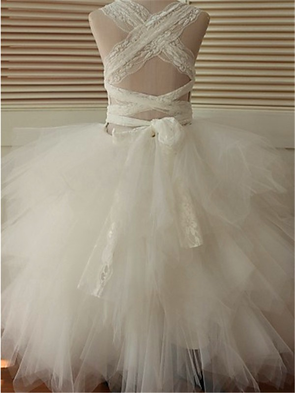 d961267f51 ... Ball Gown Scoop Sleeveless Lace Floor-Length Organza Flower Girl Dresses  ...