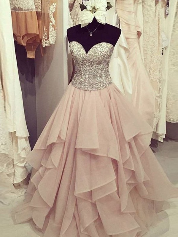 Floor Length Beaded Gowns