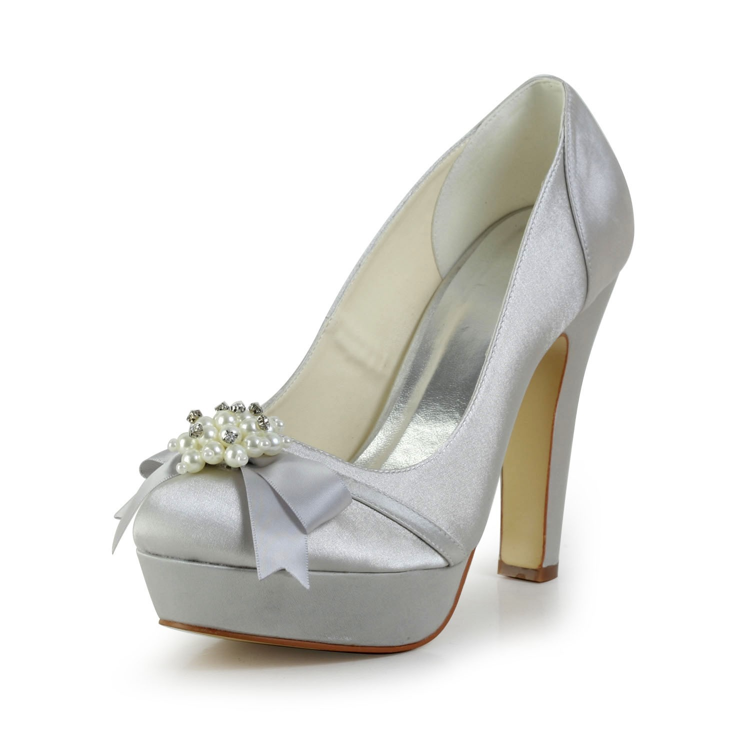 Silver Platform Shoes For Wedding 028 - Silver Platform Shoes For Wedding