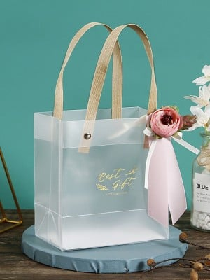 Pretty PVC With Flower Gift Bags
