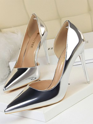 Women's PU Peep Toe Stiletto Heel High Heels