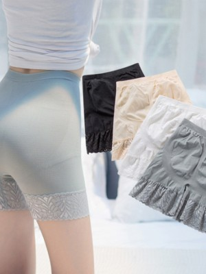 Fashion Women's Nylon Lace Elastic Safety Pants/Safety Shorts