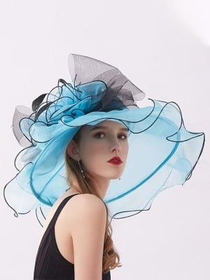 Ladies' Eye-catching Organza Silk Flower Adjustable Kentucky Derby Hats/Tea Party Hats