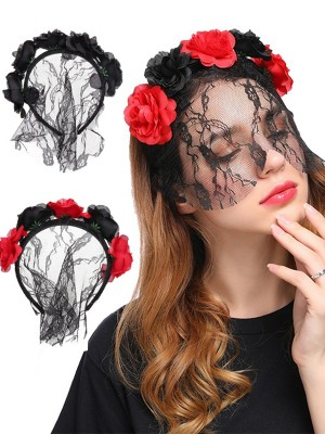 Halloween Lovely Cloth Flower Headpieces