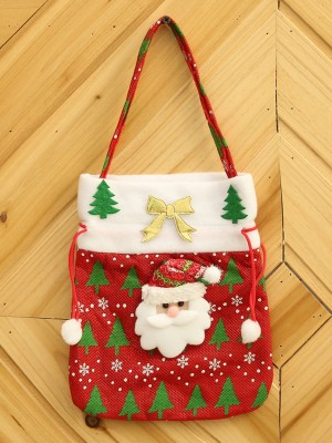 Christmas Brilliant Cloth With Santa Claus Bags