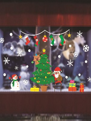 Christmas Glamorous PVC Static Stickers