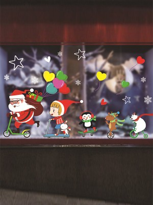 Christmas Gorgeous PVC Static Stickers