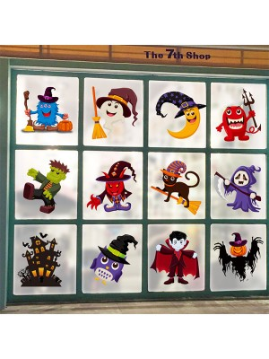 Halloween Cute Paper Static Stickers
