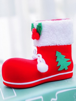 Christmas Pretty Plastic With Applique Boots