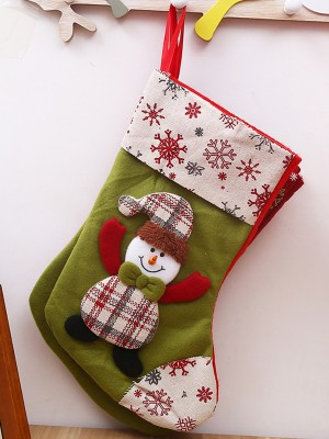 Christmas Brilliant Cloth Santa Socks