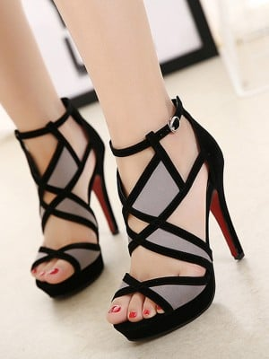Women's Hollow-out Stiletto Heel Peep Toe Sandals